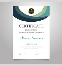 Certificate template - vertical elegant vector