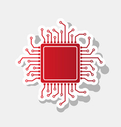 Cpu microprocessor new year vector