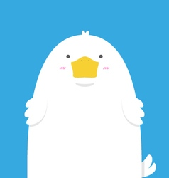 cute big fat white duck vector image vector image