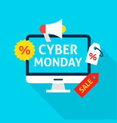 Cyber monday flat concept vector