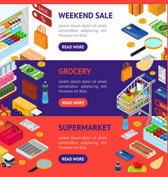 e-commerce banner horizontal set vector image