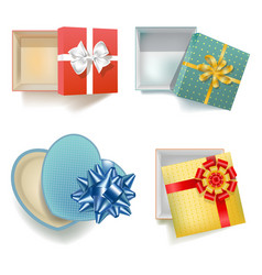 Empty gift boxes vector