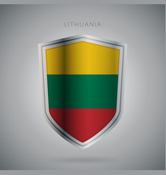 Europe flags series lithuania icon vector