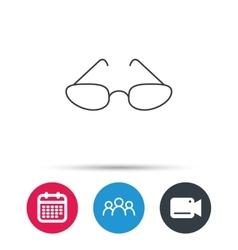 Glasses icon reading accessory sign vector