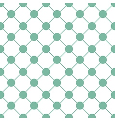 Green polka dot chess board grid white vector