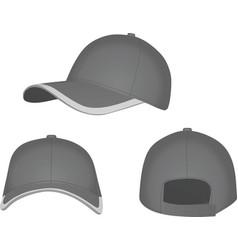 grey baseball cap vector image vector image