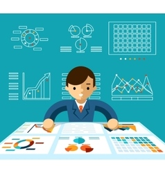 Information analysis vector image