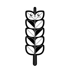 kawaii wheat vector image