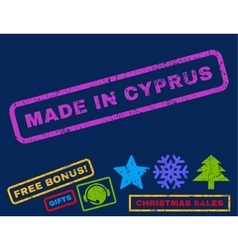 Made in cyprus rubber stamp vector
