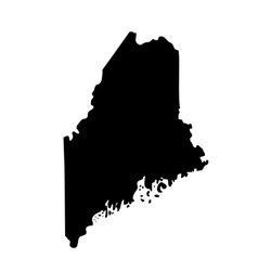 map of the US state Maine vector image vector image