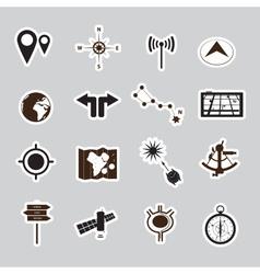 Navigation stickers set eps10 vector