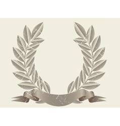 Retro laurel wreath vector