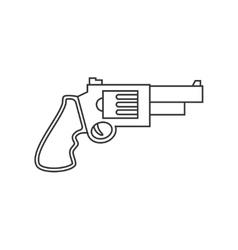 Revolver pistol line icon vector