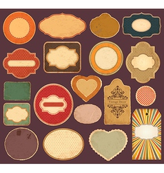 Set of vintage labels vector