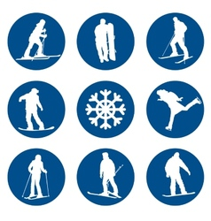 Winter sports designs vector image