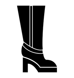 Women boots high heel icon simple style vector