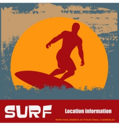 grunge surfer background vector image