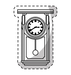 pendulum clock icon image vector image