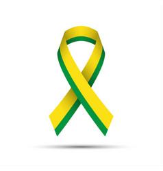 Modern yellow green ribbon vector