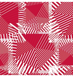 Abstract red lines seamless pattern psychedelic vector