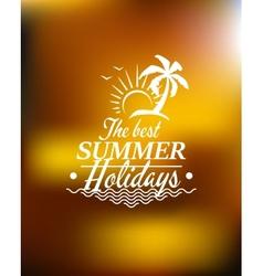 Summer holidays poster design vector