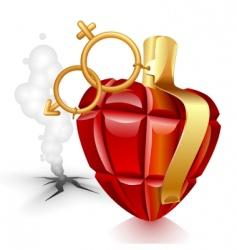 grenade heart vector image