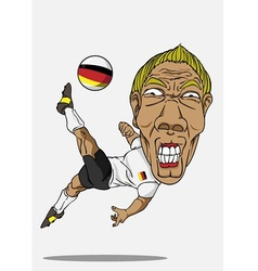 Soccer player german vector