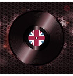 British vinyl record on metallic honeycomb vector