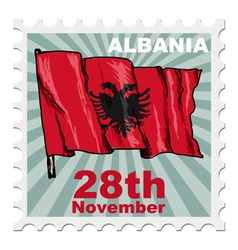 National day of albania vector
