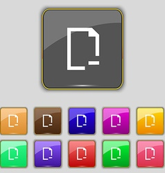 Remove folder icon sign set with eleven colored vector