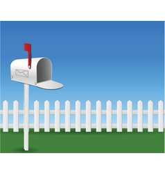 Mail box in the garden vector