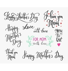 Happy mothers day simple lettering vector