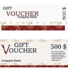 Gift voucher design vector image