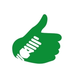 Thumbs up icon eco and conservation design vector
