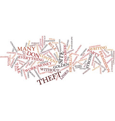 Article theftwhat to do about it text background vector