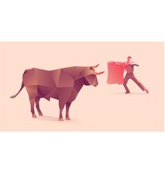 bullfights vector image vector image