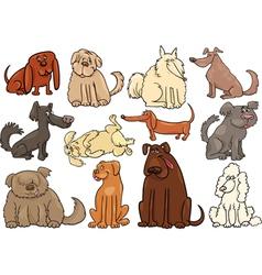 cartoon dogs or puppies big set vector image