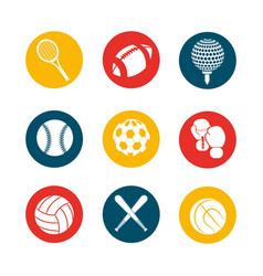 color games balls background icon vector image vector image