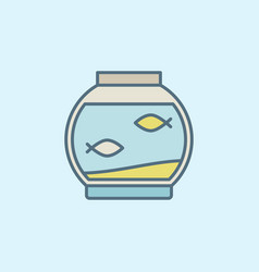 Colorful fish bowl vector