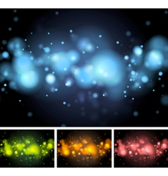 Colorful shiny lights vector image vector image
