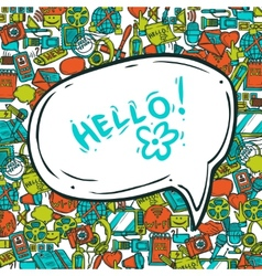 Communication Concept With Speech Bubble vector image vector image
