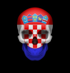 Croatian flag skull vector