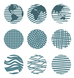 Different circles vector image vector image