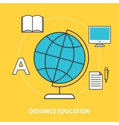 Distance education concept vector image