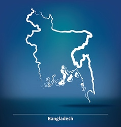 Doodle Map of Bangladesh vector image