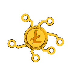 Drawing litecoin web icon vector