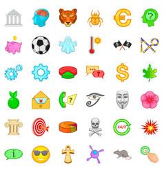 Emblem icons set cartoon style vector
