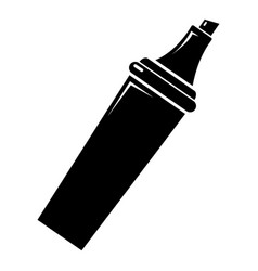 Felt tip pen icon simple black style vector