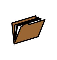 folder file symbol vector image