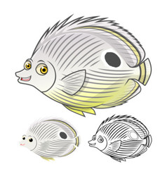Four eye butterfly fish vector